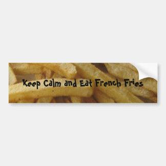 Essen Sie Pommes-FritesAutoaufkleber Autoaufkleber