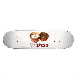 Essen Sie Reis? [Gin Khao?]… thailändische Isan Bedrucktes Skateboard