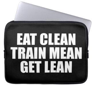 Essen Sie sauberes, der gemeine Zug, erhalten Sie Laptopschutzhülle