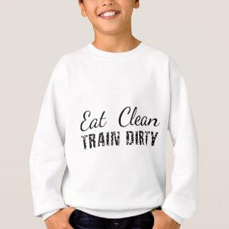 Essen Sie sauberes, der schmutzige Zug Sweatshirt