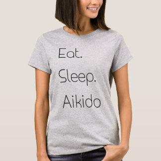 Essen Sie. Schlaf. Aikido. T-Shirt