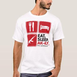 Essen Sie Schlaf AK-47 - Rot T-Shirt