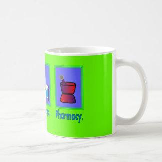 Essen Sie Schlaf-Apotheken-Apotheker-Geschenke Kaffeetasse