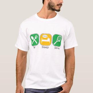 Essen Sie Schlaf-Aufschlag T-Shirt