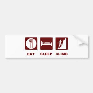 Essen Sie Schlaf-Aufstiegs-T - Shirt- und Autoaufkleber