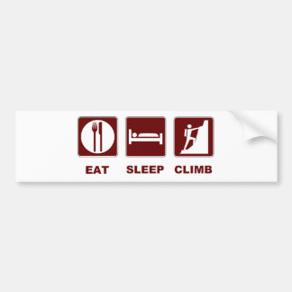 Essen Sie Schlaf-Aufstiegs-T - Shirt- und -geschen Auto Sticker
