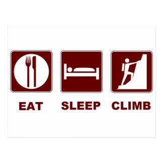 Essen Sie Schlaf-Aufstiegs-T - Shirt- und Postkarte