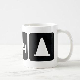 Essen Sie Schlaf AutoX Kaffeetasse