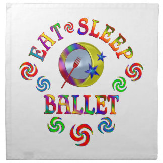 Essen Sie Schlaf-Ballett Stoffserviette