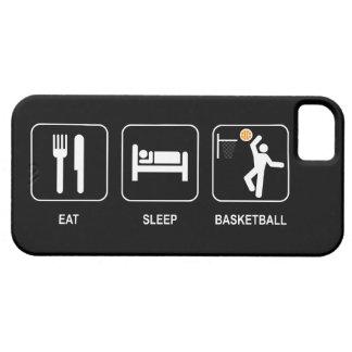 Essen Sie Schlaf-Basketball iPhone 5 Etui