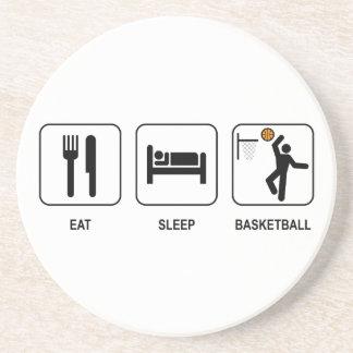 Essen Sie Schlaf-Basketball-Untersetzer