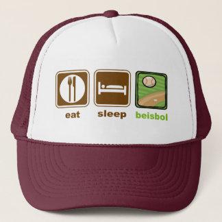 essen Sie Schlaf beisbol Truckerkappe