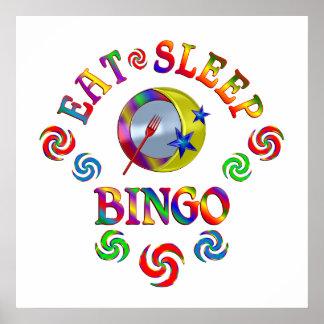 Essen Sie Schlaf-Bingo Poster