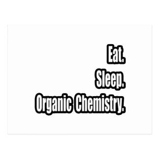 Essen Sie. Schlaf. Bio Chemie Postkarte