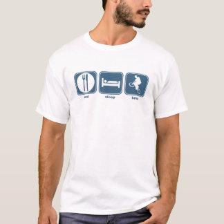 essen Sie Schlaf bmx T-Shirt