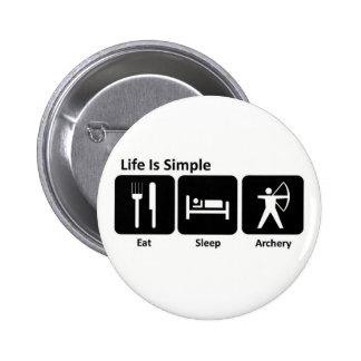 Essen Sie Schlaf-Bogenschießen Runder Button 5,7 Cm