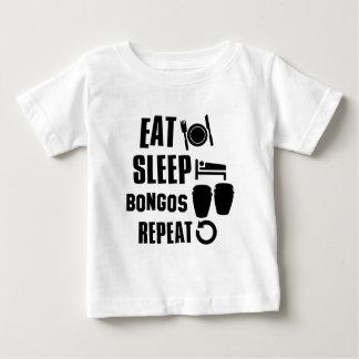 Essen Sie Schlaf-Bongos Baby T-shirt