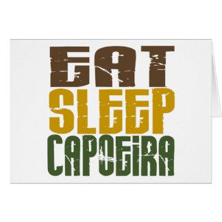 Essen Sie Schlaf Capoeira 1 Karte