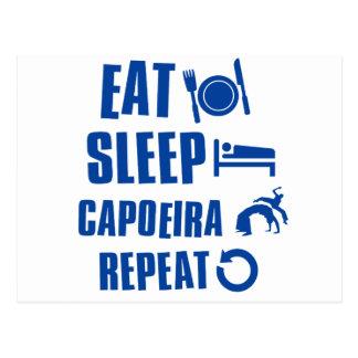 Essen Sie Schlaf Capoeira Postkarte