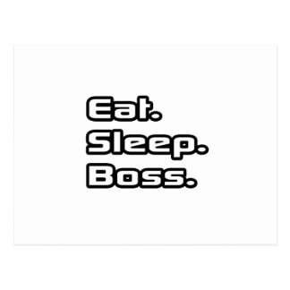 Essen Sie. Schlaf. Chef Postkarten