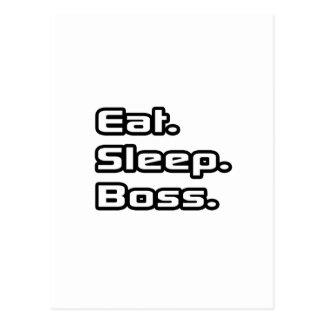 Essen Sie. Schlaf. Chef Postkarte
