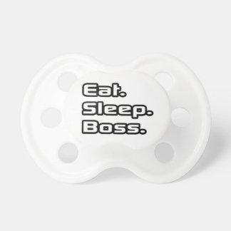 Essen Sie. Schlaf. Chef Baby Schnuller