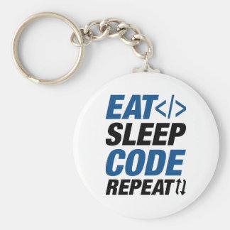 Essen Sie Schlaf-Code-Wiederholung Schlüsselanhänger