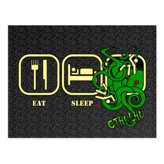 Essen Sie - Schlaf - Cthulhu Postkarte