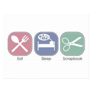 Essen Sie Schlaf-Einklebebuch Postkarte