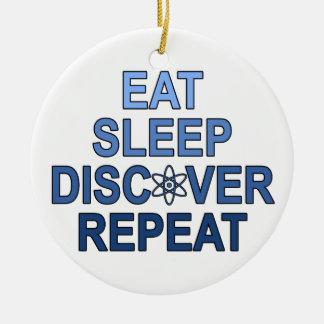 Essen Sie Schlaf entdecken Wiederholung Ornamente