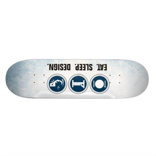 Essen Sie Schlaf-Entwurf Skateboardbrett