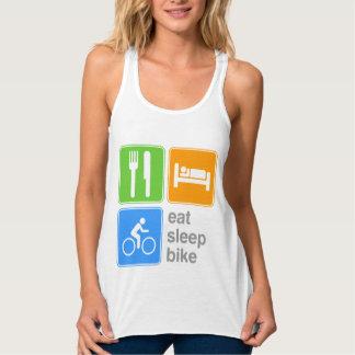 Essen Sie Schlaf-Fahrrad Tanktop
