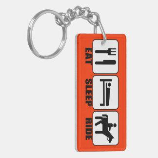 Essen Sie Schlaf-Fahrt (ein Pferd) jeder möglicher Schlüsselanhänger