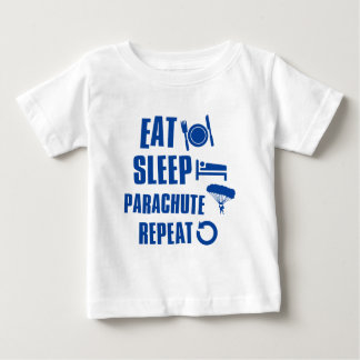 Essen Sie Schlaf Fallschirm Baby T-shirt