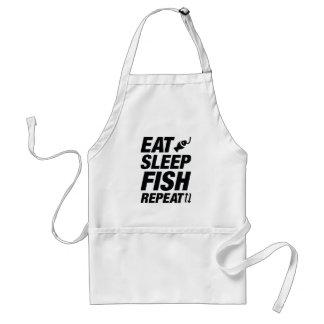 Essen Sie Schlaf-Fisch-Wiederholung Schürze