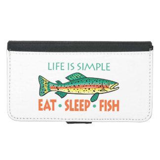 Essen Sie Schlaf-Fische - lustiges Geldbeutel Hülle Für Das Samsung Galaxy S5