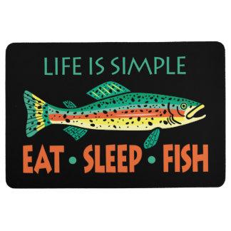 Essen Sie Schlaf-Fische - lustiges Sprichwort Bodenmatte
