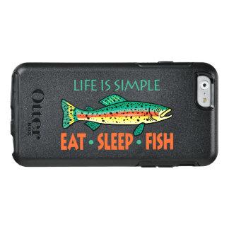 Essen Sie Schlaf-Fische - lustiges Sprichwort OtterBox iPhone 6/6s Hülle