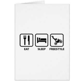 Essen Sie Schlaf-Freistil Karte