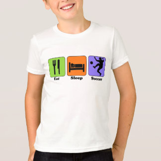 Essen Sie Schlaf-Fußball-T - Shirt