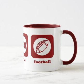 Essen Sie. Schlaf. Fußball. Tasse