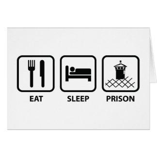 Essen Sie Schlaf-Gefängnis Karte