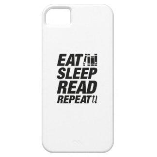 Essen Sie Schlaf gelesene Wiederholung Barely There iPhone 5 Hülle