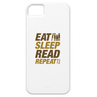 Essen Sie Schlaf gelesene Wiederholung iPhone 5 Hüllen