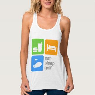 Essen Sie Schlaf-Golf Tanktop
