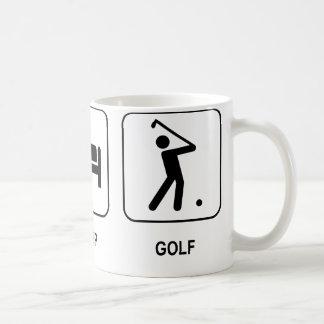 Essen Sie Schlaf-Golf-Tasse Tasse