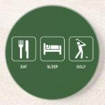 Essen Sie Schlaf-Golf-Untersetzer