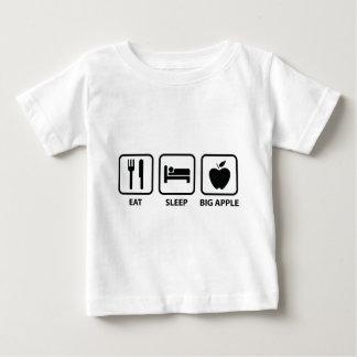 Essen Sie Schlaf großes Apple Baby T-shirt