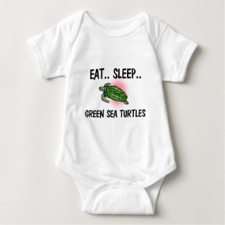 Essen Sie Schlaf GRÜNE MEERESSCHILDKRÖTEN Baby Strampler