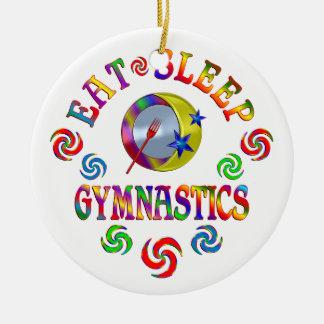 Essen Sie Schlaf-Gymnastik Keramik Ornament